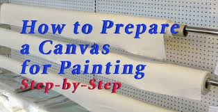 how to prepare a canvas for painting step by step feltmagnet