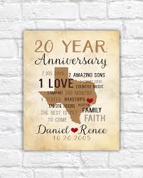 20th anniversary gifts anniversary gifts for men 20th anniversary gift for him or