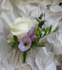 wedding flowers buttonholes freesia buttonhole