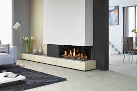 furniture modern gas fireplace with floral arrangement decorating