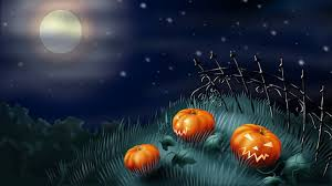 halloween 4k wallpaper scary pumpkins in the garden happy halloween night