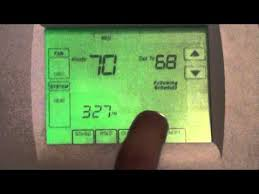 honeywell vision pro 8000 thermostat overview youtube