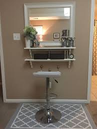 Jewelry And Makeup Vanity Table Bathroom The Most Incredible Vanity With Shelves Jewelry Storage