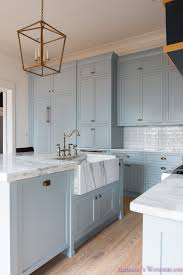 blue gray for kitchen cabinets our vintage modern kitchen reveal s