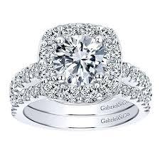 large engagement rings 14k white gold large pave halo diamond engagement ring