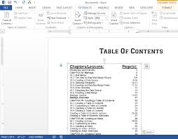 create table of contents in word how to create a table of contents in word 2013 teachucomp inc