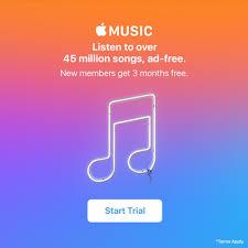 apple music free apple music trial 3 months latestfreestuff co uk