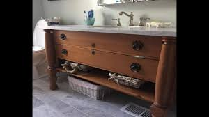 converting antique dresser to bathroom vanity the handyman