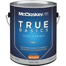 mccloskey true basics latex paint u0026 primer semi gloss interior