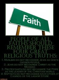 demotivational poster of all faiths should remember these