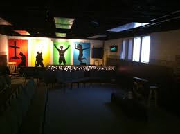 wall mural and sound booth youth ministry church pinterest