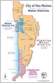 Seattle City Limits Map by Water Dist 54 Customers Near Des Moines Normandy Park Urged To