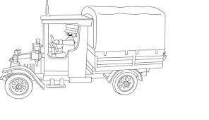 Coloriage Playmobil Camion a Imprimer Gratuit
