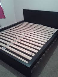 lade wood king size black low solid bed frame sultan lade ikea used