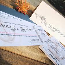 Boarding Pass Wedding Invitations Boarding Pass Wedding Invitation Sail Away With Us Ticket