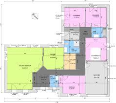 plan maison plain pied en l 4 chambres