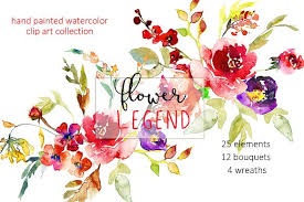 Peony Flowers by Watercolor Red Peony Flowers Clipart Illustrations Creative Market