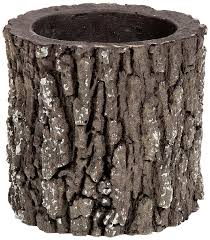 tree stump planters amazon com surreal v 1 real vertical log planter small oak