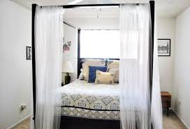 Canopy Curtains Diy Perfect Canopy Bed Curtains In White Bedroom Brighter Setting