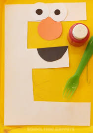 letter e crafts e is for elmo preschool alphabet craft school time snippets
