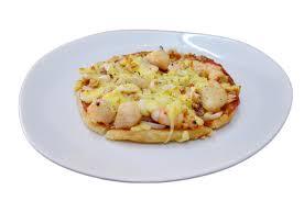 hawaiian fusion cuisine fusion cuisine roti pizza seafood hawaiian recipe stock image