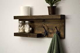 Wood Bathroom Towel Racks Lovely Wood Shelf With Towel Bar Gallery Bathtub For Bathroom
