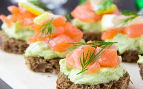 rye bread canapes recipe of the month smoked salmon canapes with avocado