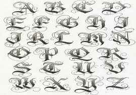 tattoo lettering alphabet