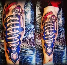 61 fabulous biomechanical tattoos for leg