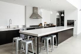 kitchen black and white kitchen islands silver barstools chrome