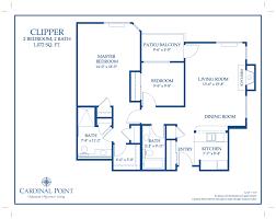 clipper floor plan u2013 oakmont of cardinal point