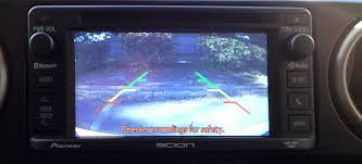 scion xb oem backup camera system