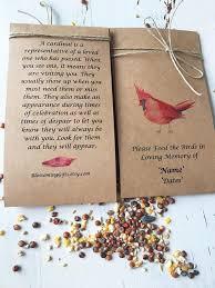 bird seed favors funeral favor bird seed funeral bird seed favor funeral