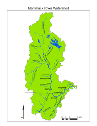 Lowell Massachusetts Map by Map Of Merrimack Watershed Merrimack River Watershed Council