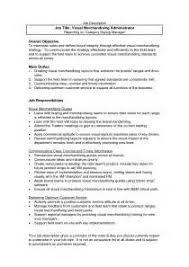 Resume For Retail Merchandiser Download Job Description For Merchandiser Haadyaooverbayresort Com