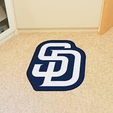 Lsu Area Rugs San Diego Padres Decorative Mascot Logo Cut Floor Mat Area Rug