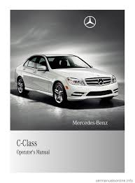mercedes benz c class 2011 w204 owner u0027s manual