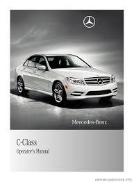 mercedes benz c class 2011 w204 owner u0027s manual