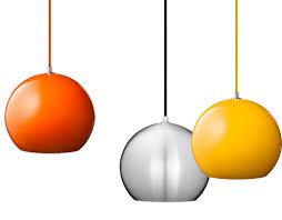 Orange Pendant Light Topan Vp6 Pendant L Hivemodern