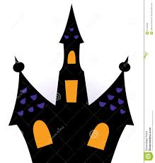 Halloween Silhouette Cutouts Halloween Haunted House Silhouette Stock Photography Image 27435402
