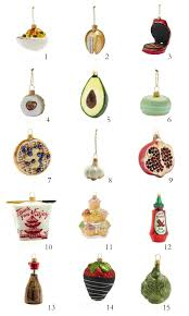 ornaments for the foodie simple and healthy foods