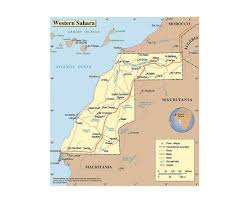 Morocco Map Africa by Maps Of Western Sahara Detailed Map Of Western Sahara In English