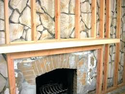 fireplace cover up fireplace cover up how to build a standard wall over a stone wall