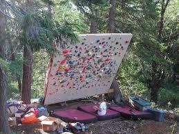 backyard climbing wall for swing set outdoor design and ideas