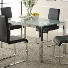 Modern Black Glass Dining Table Cracked Glass Dining Table Home And Furniture