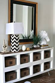 ikea console hack 22 best ikea hacks for kallax shelf hello lovely