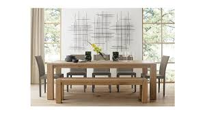 crate and barrel farmhouse table big sur natural 71 5 bench reviews crate and barrel