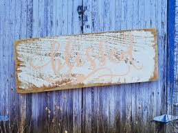 distressed wood home decor blessed rustic distressed wood sign home decor reclaimed wood