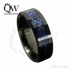 mens tungsten wedding bands 2017 8mm blue black silvering celtic tungsten carbide