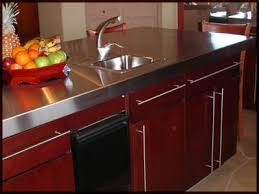 stainless steel countertop with sink quick custom metals counter tops